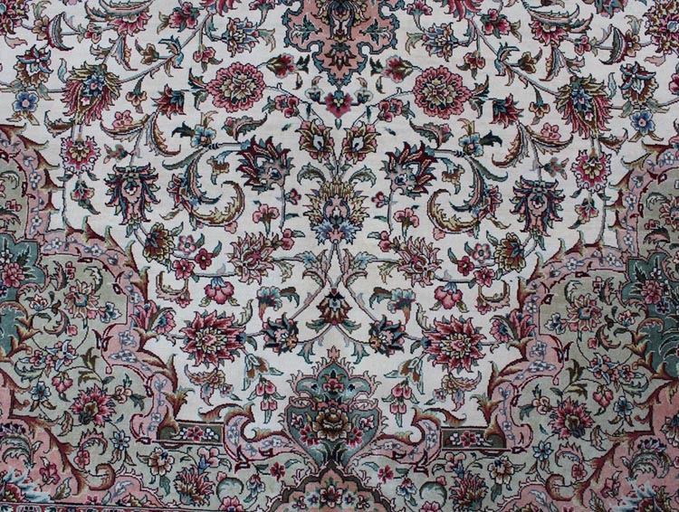 the field of persian hand-made silk rug