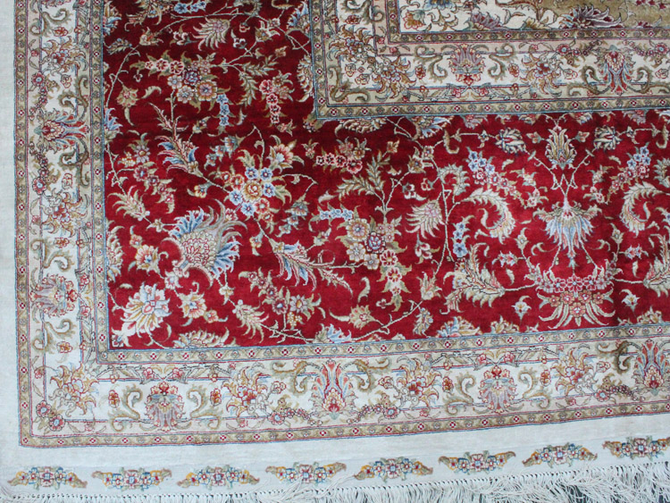 silk rug fringes